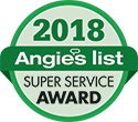 Angies List 2018 Super Service Award for Garage Doors Plus of Minnesota